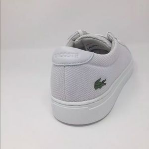a04e0f3de Lacoste Shoes - Men s White Lacoste Sneakers L.12.12 BL 2) Textile